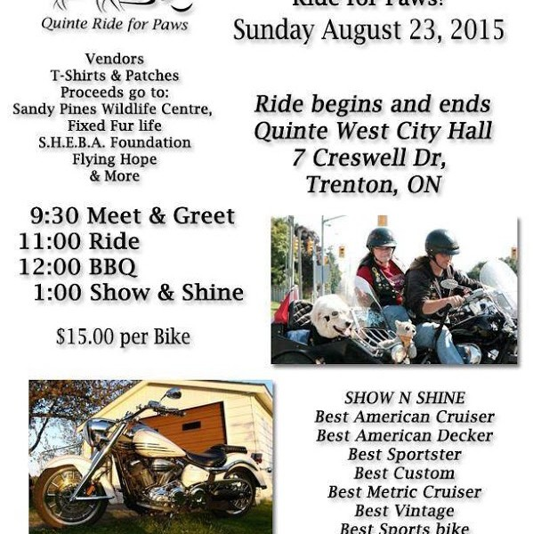 Quinte Ride for Paws